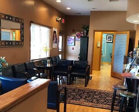 Franklinville Dental waiting room.